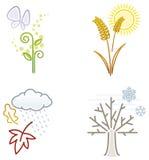 Seasons icons Royalty Free Stock Image