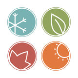Seasons icons. Stock Images