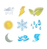 Seasons icons Stock Photo