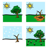Seasons  Icons Stock Images