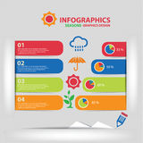 Seasons Infographics design Stock Photos