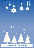 Seasons's Greeting Background (blue) Royalty Free Stock Photo