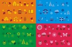 Seasons seamless patterns Royalty Free Stock Image