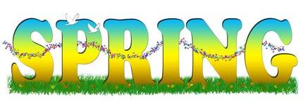 Seasons-spring. Illustration of the four seasons stock illustration