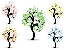 Seasons trees Stock Image