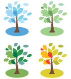 Seasons trees D Royalty Free Stock Images