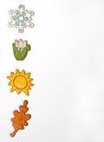 Seasons - vertical. Seasonal icons Royalty Free Stock Images