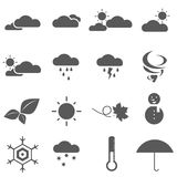 Seasons and Weather Icon EPS 10 Vector Royalty Free Stock Images