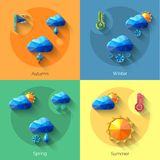 Seasons Weather Set royalty free illustration