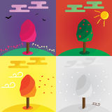 Seasons of the year Royalty Free Stock Images