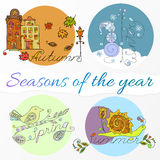 Seasons of the year Stock Photography