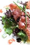 Seasonsalad with crispy parmaham Stock Images