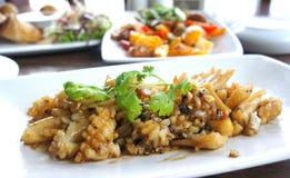 Seasood, calamaro fritto Fotografia Stock Libera da Diritti