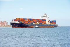 Seaspan Dalian Cargo Container Ship Stock Photography