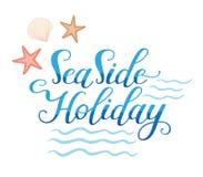 Seasside-Feiertags-Logo Lizenzfreies Stockbild