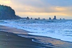 Seastack at Third Beach Royalty Free Stock Photo