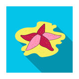 Seastar icon in flat style isolated on white background. Sea animals symbol stock vector illustration. Seastar icon in flat design isolated on white background Royalty Free Stock Images