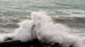 Seastorm in camogli Stock Photo