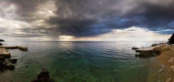 Seastorm panorama Stock Image