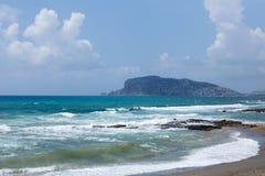 Seastorm w Alanya Zdjęcia Stock