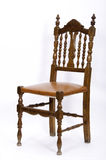 Seat. This image shows a wooden chair, with seat skay Royalty Free Stock Photo