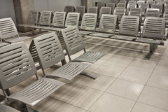 Seat. Empty seats in an airport Royalty Free Stock Photography