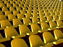 Seat. Yellow seat Royalty Free Stock Photography