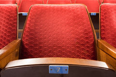 Seat #7 Royalty Free Stock Images