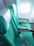 Seat of airplane Royalty Free Stock Image