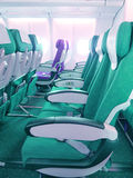 Seat of airplane Stock Photos