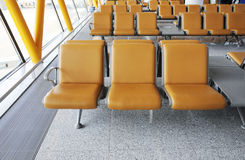 Seat in airport terminal building Stock Images