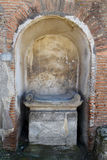 Seat in Alcove, Pompeii Archaeological Site, nr Mount Vesuvius, Italy Stock Photography