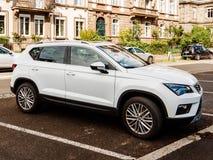 Seat Ateca SUV estacionado na cidade francesa Imagens de Stock Royalty Free