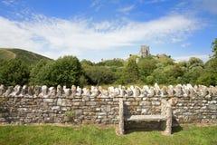 Seat au château de Corfe Photos stock