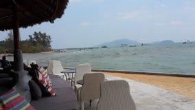 Seat auf dem Strand Lizenzfreies Stockfoto