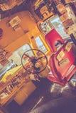 Seat av den offentliga bussföraren Arkivfoton