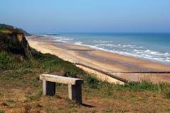 Seat avec une belle vue d'océan Images libres de droits