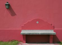 Seat Bank In Outer Wall with light Royalty Free Stock Photography