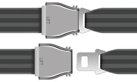 Seat Belt. Layered Vector Illustration Of Seat Belt which be used at airplane Royalty Free Stock Photos