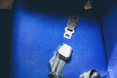 Seat belt in airplane  ( Filtered image processed vintage ) Royalty Free Stock Photos