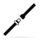 Seat belt black and white vector Royalty Free Stock Images