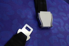 Seat belt with blue background stock images