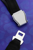 Seat belt with blue background Royalty Free Stock Photo