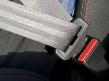 Seat Belt. Close-up car safety belt Royalty Free Stock Photography