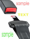 Seat belt. Fastened seat belt. on white background Royalty Free Stock Images