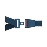 Seat Belt icon isolated. On white background. Safety of movement on car, airplane. Vector illustration flat design. Protection driver and passengers. Fastened Royalty Free Stock Image
