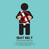Seat Belt. Sign Vector Illustration Stock Image