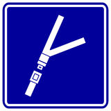 Seat belt vector sign Royalty Free Stock Images