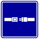 Seat belt vector sign Stock Image