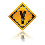 Seat belt warning sign Stock Images